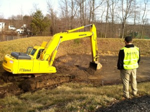 Storm water management pond repair